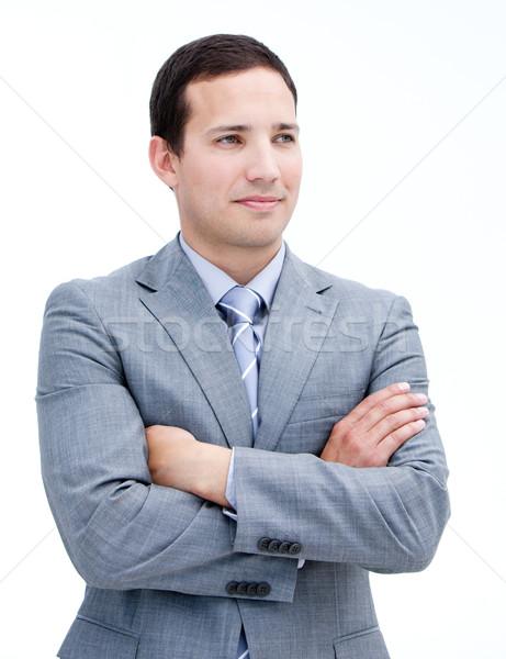 Portrait élégant affaires pliées bras permanent Photo stock © wavebreak_media