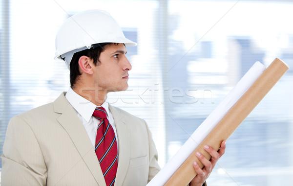 кавказский архитектора план компания строительство Сток-фото © wavebreak_media