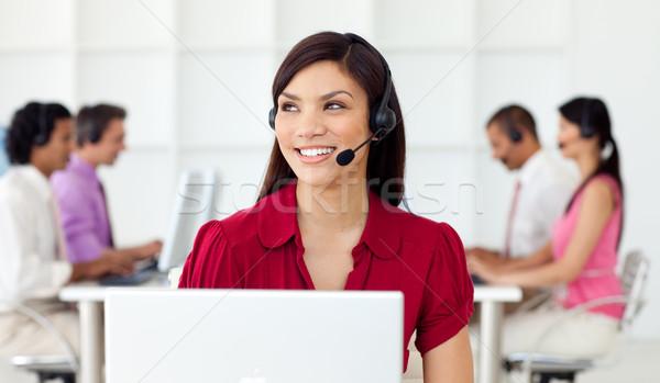 Servizio di assistenza rappresentante auricolare call center business Foto d'archivio © wavebreak_media