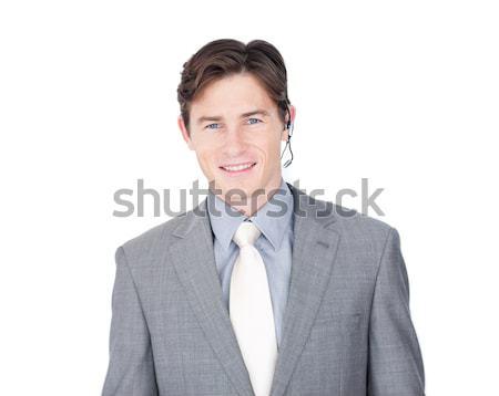 Assertive customer service agent with headset on  Stock photo © wavebreak_media