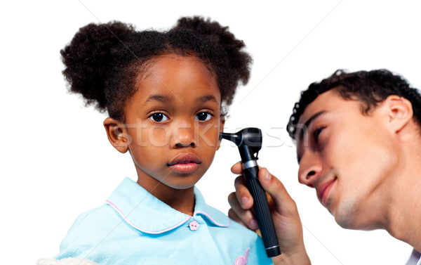 Geconcentreerde arts onderzoeken jonge patiënt witte Stockfoto © wavebreak_media