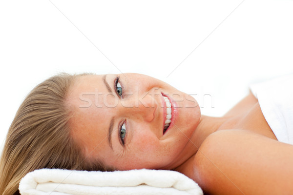 Portrait of attractive woman relaxing after a spa treatment Stock photo © wavebreak_media