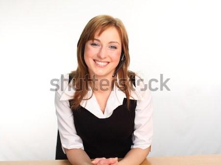 Woman on a Headset Talking Stock photo © wavebreak_media