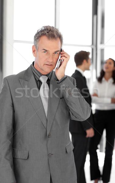 старший бизнесмен говорить Сток-фото © wavebreak_media