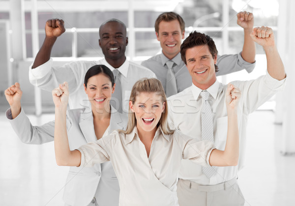 бизнес-команды улыбаясь положительный Сток-фото © wavebreak_media
