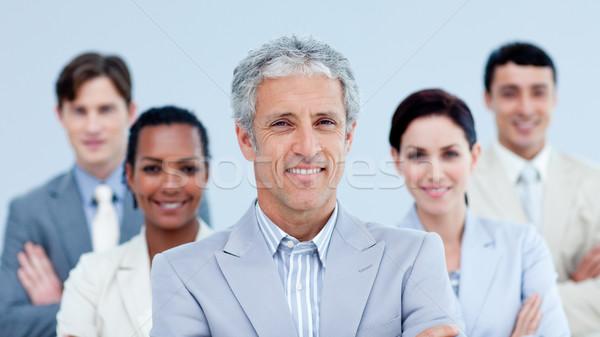 笑みを浮かべて ビジネスチーム 民族の多様性 白 ビジネス ストックフォト © wavebreak_media