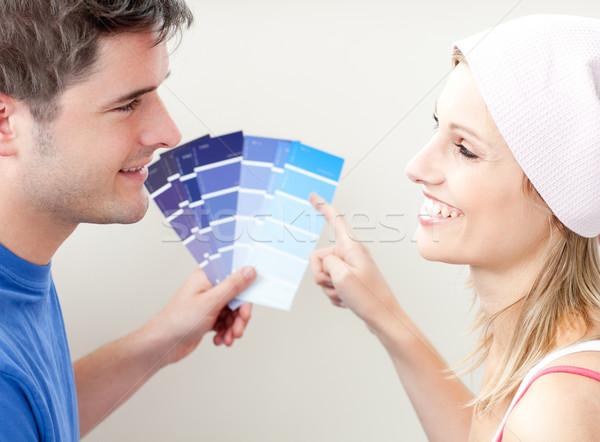 Coppia colore stanza Foto d'archivio © wavebreak_media