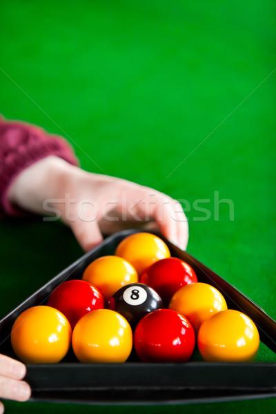 Sinuca jogador triângulo piscina Foto stock © wavebreak_media