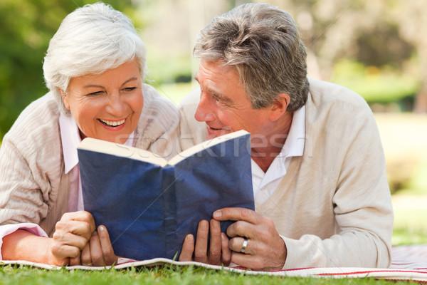 Casal leitura livro parque amor de volta Foto stock © wavebreak_media