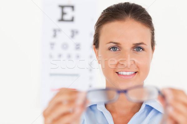 Portré barna hajú szem specialista ki szemüveg Stock fotó © wavebreak_media