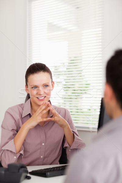 Mujer de negocios hombre oficina trabajo belleza Foto stock © wavebreak_media