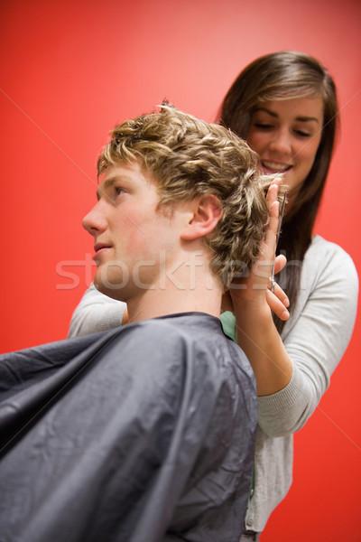 Portret vrouw haren schaar business Stockfoto © wavebreak_media