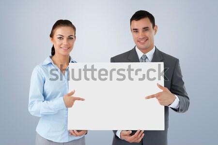 Бизнес-партнеры знак вместе белый рук Сток-фото © wavebreak_media