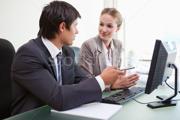 Business team working with a computer in an office Stock photo © wavebreak_media