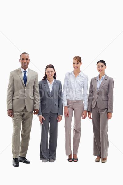 üzleti csapat mosolyog oldal fehér mosoly üzletember Stock fotó © wavebreak_media