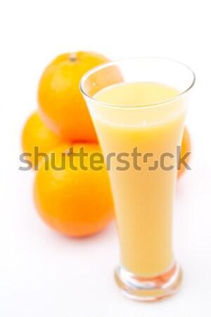Portakal arkasında cam portakal suyu beyaz arka plan Stok fotoğraf © wavebreak_media