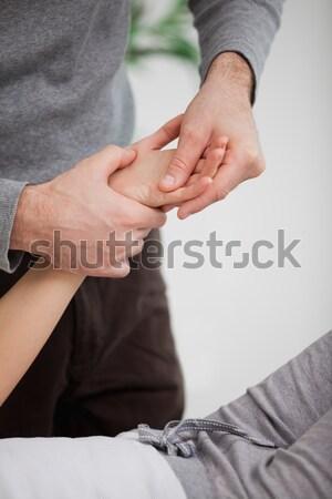 ストックフォト: 手 · 患者 · 手 · 医師 · 医療