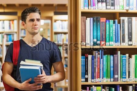 öğrenci kitaplık kütüphane Stok fotoğraf © wavebreak_media