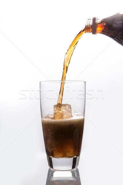 Sody szkła biały lodu pić Zdjęcia stock © wavebreak_media