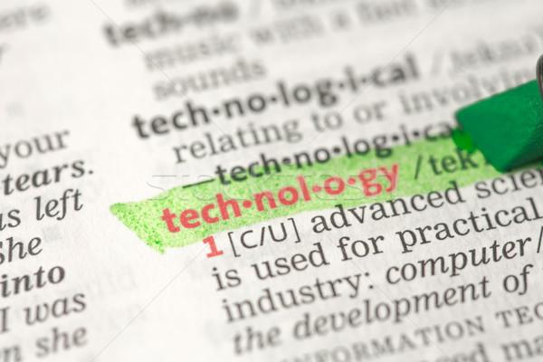 Tecnologia definizione verde dizionario informazioni studiare Foto d'archivio © wavebreak_media