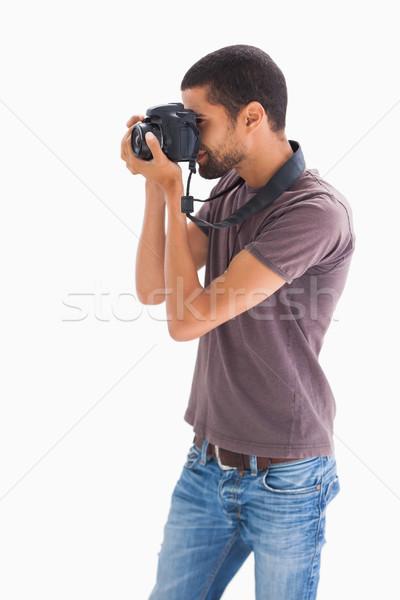 şık adam fotoğraf dijital fotoğraf makinesi beyaz Stok fotoğraf © wavebreak_media