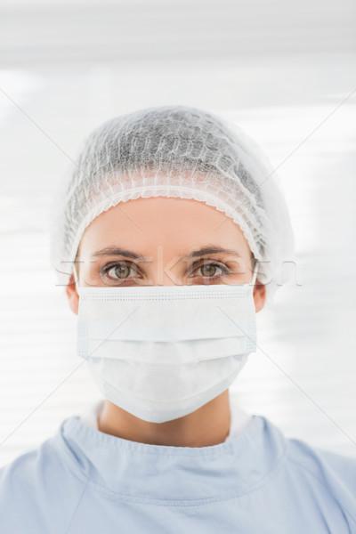 女性 外科医 着用 外科的な キャップ マスク ストックフォト © wavebreak_media