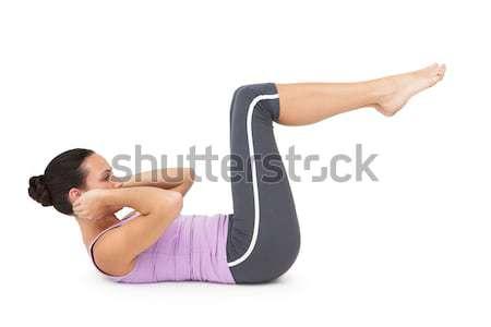 Yandan görünüş uygun genç kadın tam uzunlukta spor uygunluk Stok fotoğraf © wavebreak_media
