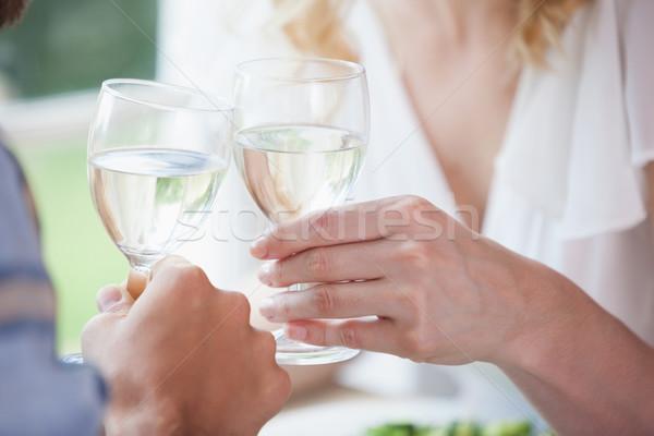 Beyaz şarap ev yemek odası sevmek Stok fotoğraf © wavebreak_media