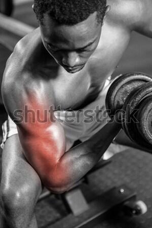 Muscular moço jaqueta ginásio sensual corpo Foto stock © wavebreak_media