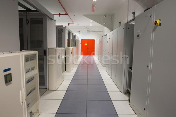 空っぽ 廊下 サーバー データセンター ストックフォト © wavebreak_media