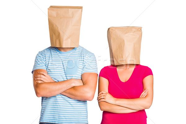 袋 カップル 頭 女性 男性 ストックフォト © wavebreak_media