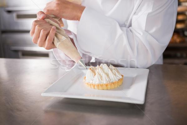 Baker torta cucina panetteria Foto d'archivio © wavebreak_media