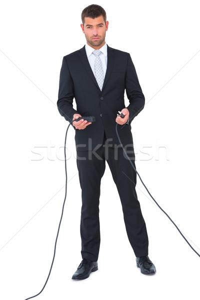 Affaires câbles ensemble blanche affaires Photo stock © wavebreak_media