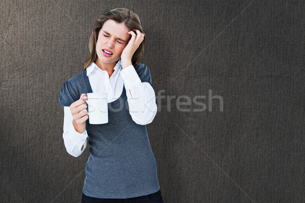Görüntü kadın baş ağrısı kupa Stok fotoğraf © wavebreak_media