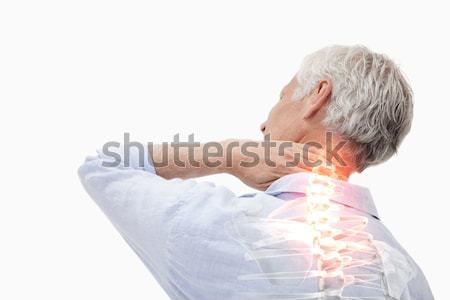 Kręgosłup ból człowiek digital composite zdrowia tle Zdjęcia stock © wavebreak_media