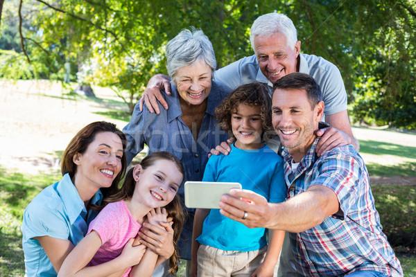 Extended family taking a selfie in the park Stock photo © wavebreak_media