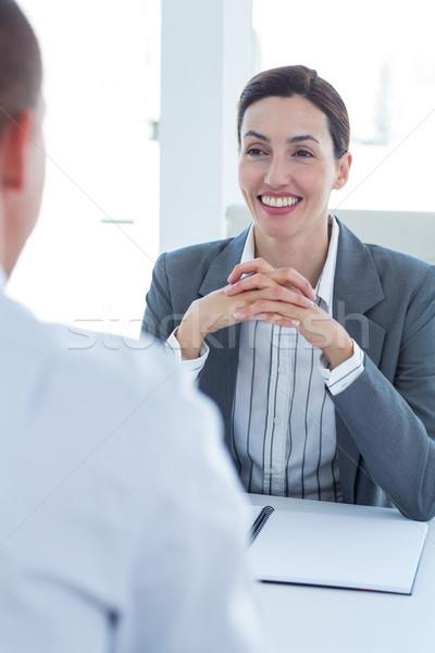 Empresária entrevista empresário escritório mulher homem Foto stock © wavebreak_media