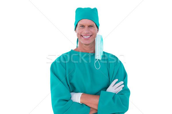 Retrato cirurgião branco tela homem medicina Foto stock © wavebreak_media