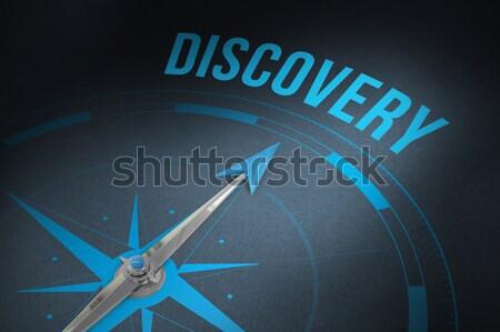 Afbeelding kompas wijzend paars teken Stockfoto © wavebreak_media