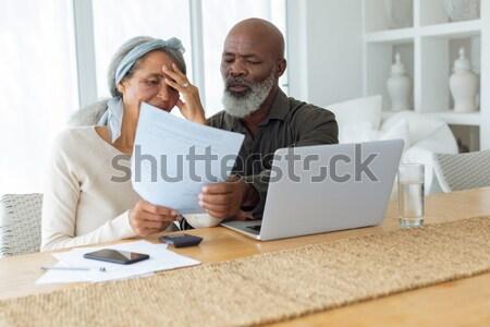 üzleti csapat dolgozik boldogan együtt laptop iroda Stock fotó © wavebreak_media