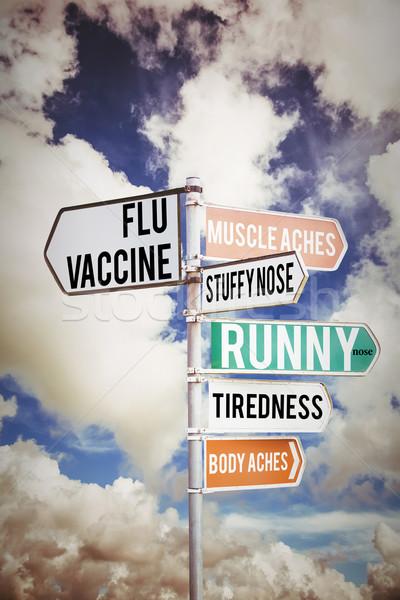 Immagine influenza colorato segno nuvoloso Foto d'archivio © wavebreak_media