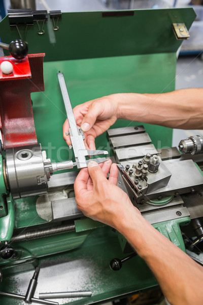 Ingeniería estudiante pesado maquinaria Universidad escuela Foto stock © wavebreak_media