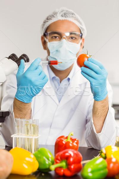 продовольствие ученого томатный университета школы технологий Сток-фото © wavebreak_media