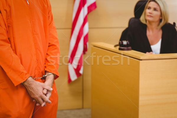 Bíró néz fogoly bíróság szoba nő Stock fotó © wavebreak_media