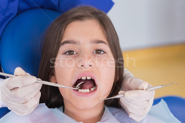 Portrait jeunes patient dentaires clinique Photo stock © wavebreak_media