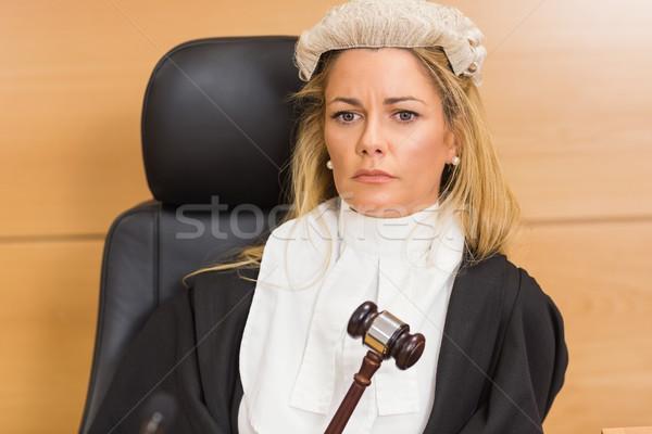 Popa juiz sessão escuta tribunal quarto Foto stock © wavebreak_media