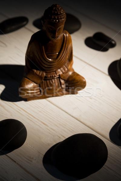 Buddha statua pietra cerchio shot studio Foto d'archivio © wavebreak_media