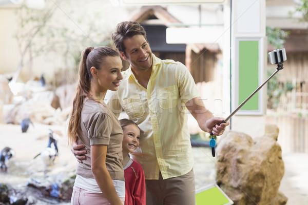 幸せな家族 スティック 動物園 男 子 母親 ストックフォト © wavebreak_media