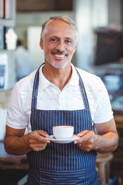 Garson gülen fincan kahve iş Stok fotoğraf © wavebreak_media