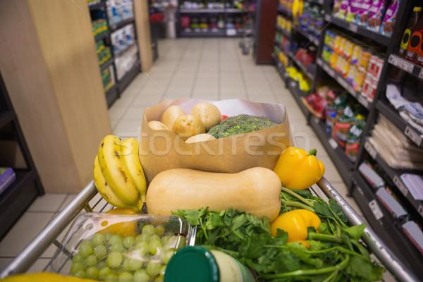 A trolley with healthy food  Stock photo © wavebreak_media